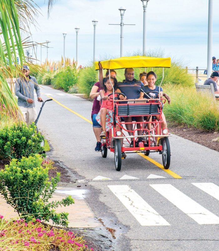 Biking the boardwalk for family fun