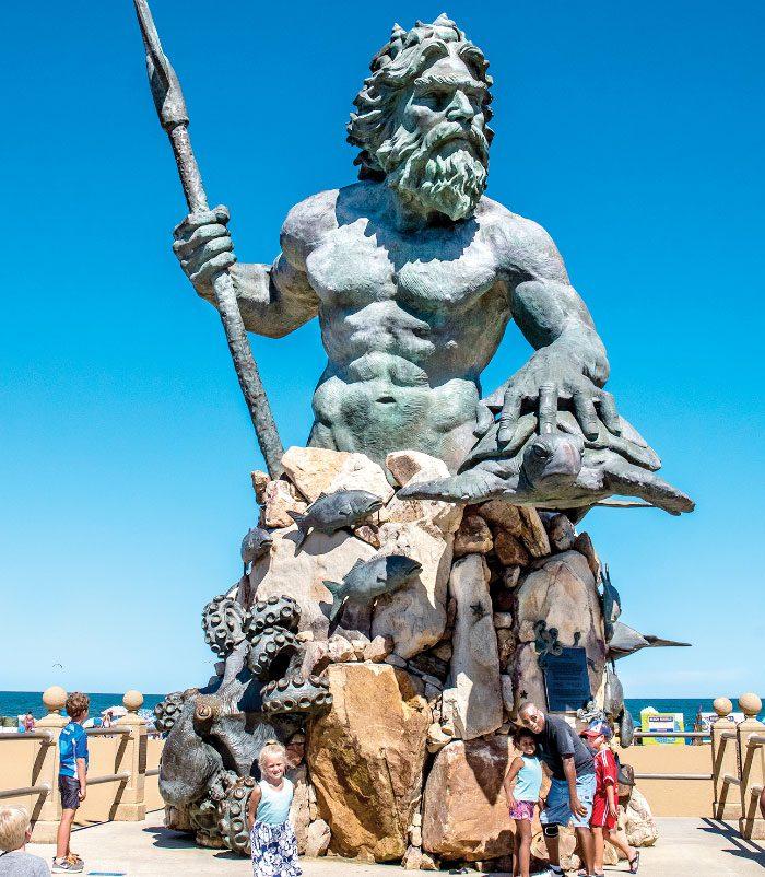 king neptune statue virginia beach oceanfront